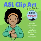 ASL American Sign Language Clip Art - Calendar Time!