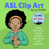 ASL American Sign Language Clip Art - Calendar Time!