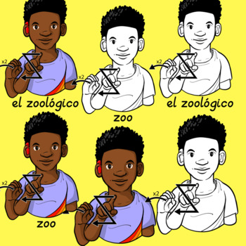 ASL American Sign Language Clip Art Set - All My Animals (Personal)