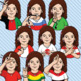 ASL American Sign Language Clip Art Set - Countries of the World