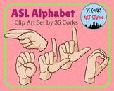 ASL American Sign Language Clip Art Set - Finger-spelled Alphabet (Older Style)