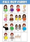 ASL (American Sign Language) Color Bingo