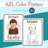 ASL American Sign Language Color Posters - 12 Days of Free