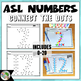 ASL American Sign Language Connect the Dots - Numbers