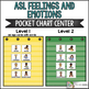 ASL American Sign Language Feelings and Emotions Pocket Chart Center