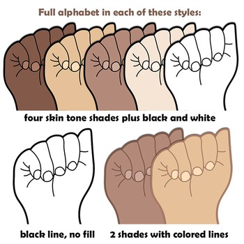 American Sign Language ASL Clipart
