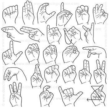 Clip Art American Sign Language | ASL Clipart by Dancing ...