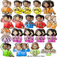 ASL American Sign Language Kids Clothes Clothing Signs Clipart Clip Art