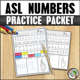 ASL American Sign Language Number Practice Packet 0-20
