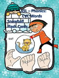 "American Sign Language ""Word Families Flash Cards"" (CVC Words)"