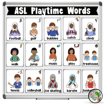 ASL American Sign Language Playtime Half-Page Posters