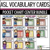 ASL American Sign Language Pocket Chart Center BUNDLE