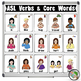 ASL American Sign Language Verbs and Core Words Half-Page Posters