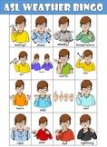 ASL (American Sign Language) Weather Bingo