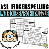 ASL American Sign Language Word Search Puzzle