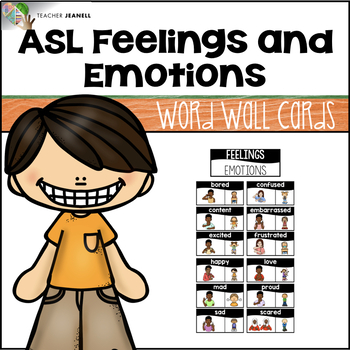 graphic regarding Feelings Cards Printable called ASL American Indication Language Phrase Wall Playing cards - Emotions and Thoughts
