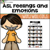 ASL American Sign Language Word Wall Cards - Feelings and