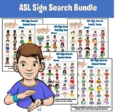 ASL American Sign Search Bundle (Word Search)