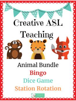ASL Animal Activities Bundle - ASL, ESL, Deaf/HH