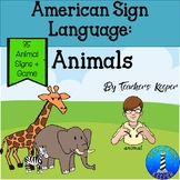 ASL Animal Signs plus Game: Distance Learning