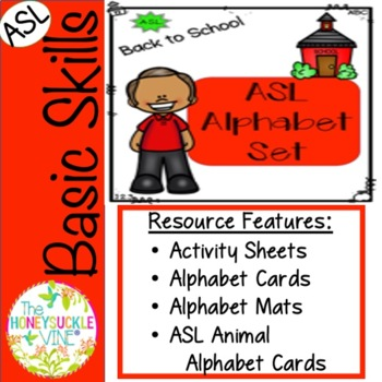 ASL Back to School Alphabet Set