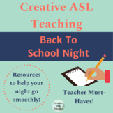 ASL Back to School Night Teacher Must Haves Packet