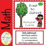 ASL Back to School Number Cards