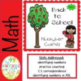 ASL Back to School Number Cards
