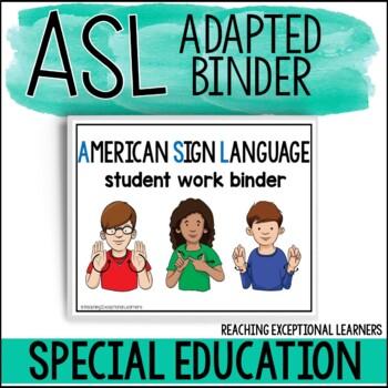 ASL Basic Skills Student Binder BUNDLE for Special Education