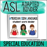ASL Basic Skills Student Binder BUNDLE for Special Education