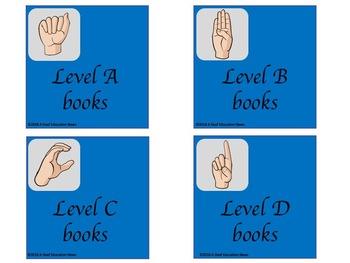 ASL Basket/bin Classroom Label in Blue