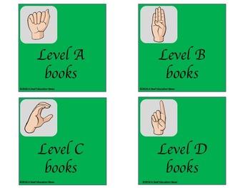 ASL Basket/bin Classroom Label in Green