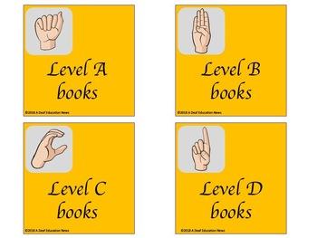 ASL Basket/bin Classroom Label in Orange