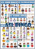 ASL Bingo Cards Bundle (calendar, food, colors, school, weather)