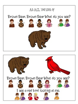 ASL: Brown Bear Brown Bear booklets and activities