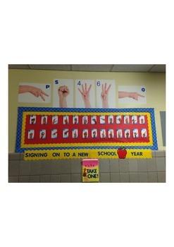 ASL Bulletin Board Idea