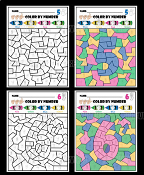ASL COLOR BY NUMBERS.  1 TO 10