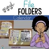 ASL Calendar File Folder