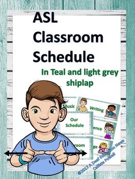 ASL Calendar Teal and light Grey Shiplap Bundle