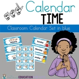 ASL Classroom Calendar Sets in Blue