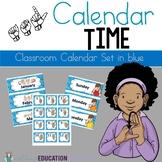 ASL Classroom Calendar Sets in Blue