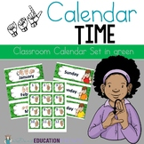 ASL Classroom Calendar Sets in Green Color
