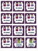 ASL Classroom Calendar Sets in purple color