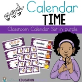 ASL Classroom Calendar Sets in purple color