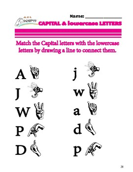 ASL Capital and Lowercase Letters by ASL Concepts
