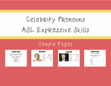 ASL Celebrity Pronouns Activity