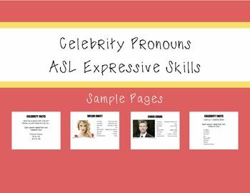 ASL Celebrity Pronouns Activity