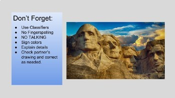 ASL Classifiers Describe and Draw Activity: President's Day