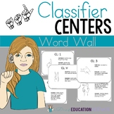 ASL Classifiers Word Wall Posters