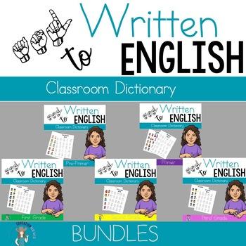 ASL Classroom Dictionary Bundle Set 1-5